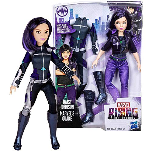Year 2018 Marvel Rising Secret Warriors Series 11 Inch Tall Figure : Daisy Johnson with Necklace and Marvel's Quake Uniform (Daisy Johnson Marvel)