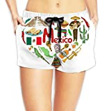 Travel to Mexico Women Fashion Sexy Quick Dry Lightweight Hot Pants Waist Beach Shorts Swimming Trunks