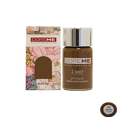 Doreme 2 Shot Manual Permanent Makeup Pigment Ink for Microblading (Light Ash 824) ()