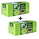 Nargis Brand Organic Natural Green Tea 25+25 Teabags Health Tea Anti Oxidant Anti Stress Direct from Source in India Unblended 100% Pure & Certified No added Chemicals Limited Edition