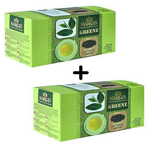 Organic Natural Green Tea 25+25 Teabags Health Tea Anti Oxidant Anti Stress Direct from Source in India Unblended 100% Pure & Certified No added Chemicals Limited Edition - Keurig Sugar Free Coffee