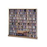 CD Rack - 1500 Veneer (Walnut) (63 3/4''H x 65 5/6''W x 9 1/2''D)