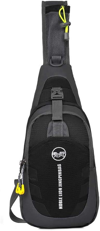 Men Women Sling Backpack Chest Crossbody Bag Shoulder Bag Travel Sports Gym Q5B0
