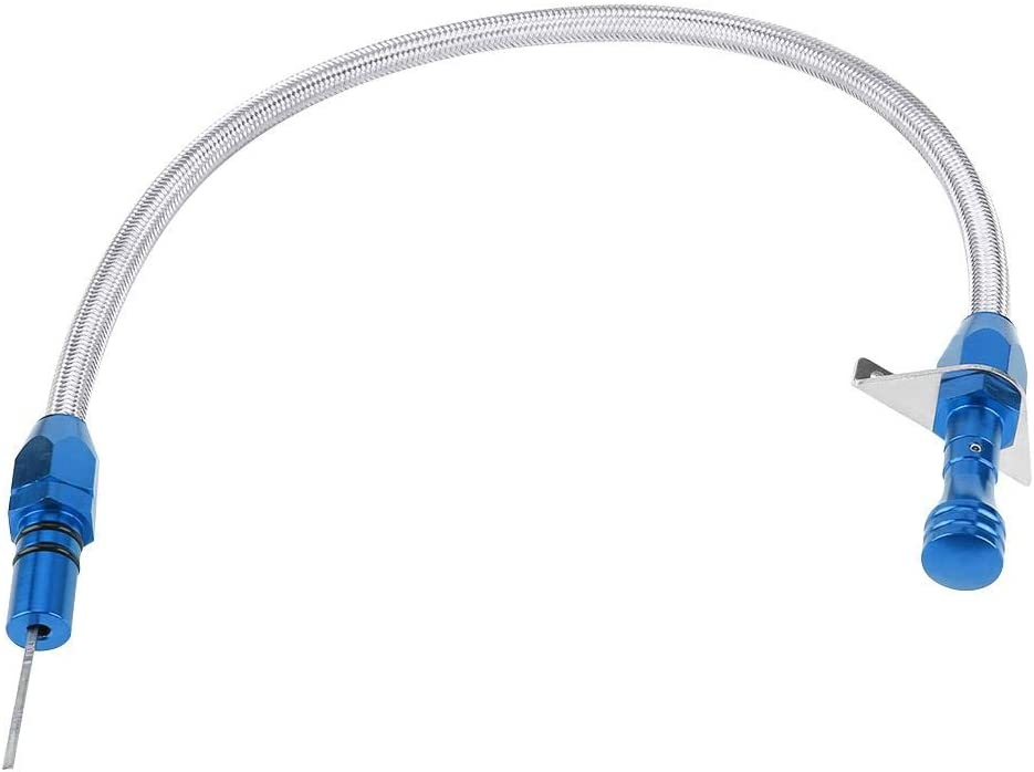 Dipstick 540mm Flexible Stainless Steel Transmission Dipstick for Chevy//GM TH350 350 SILVER