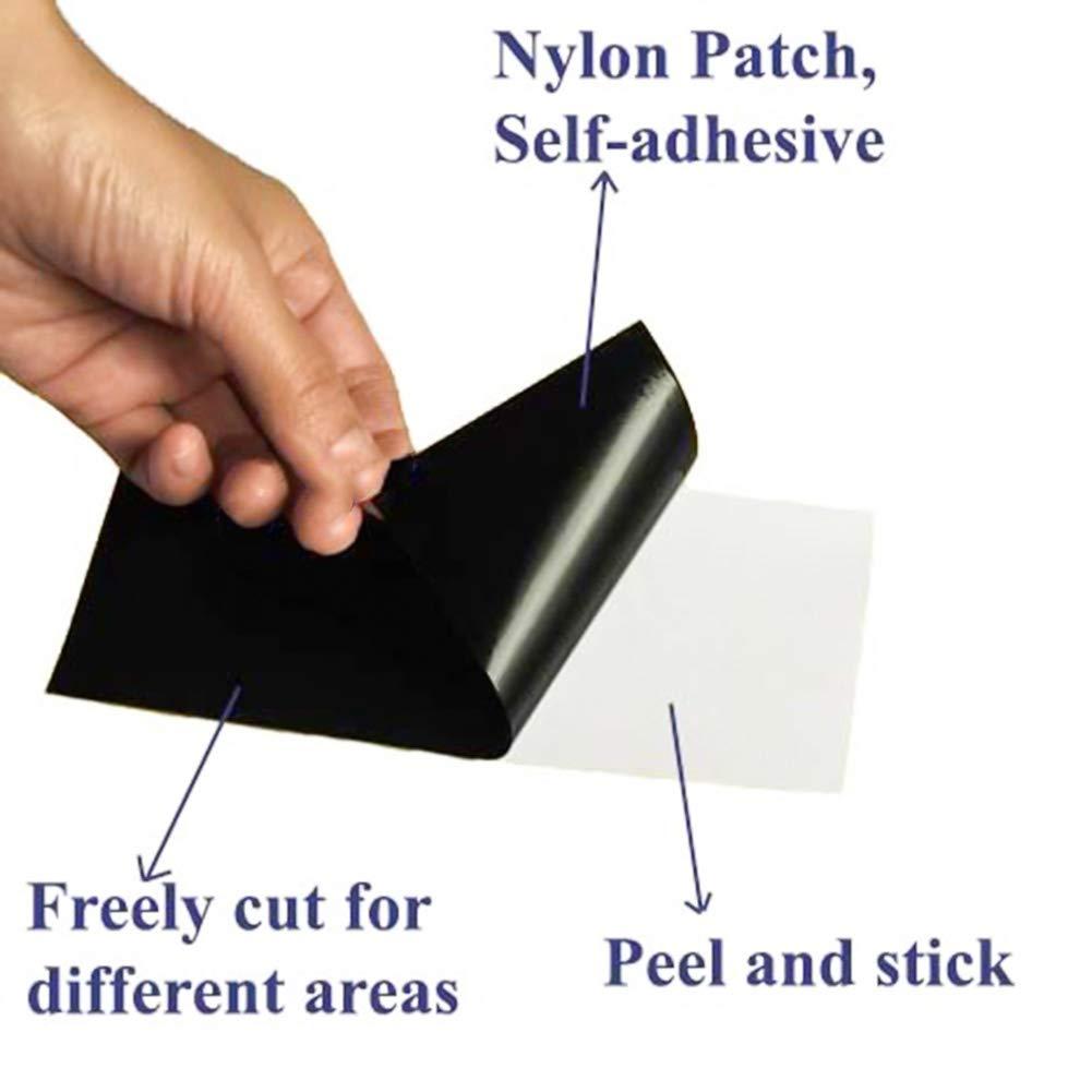 Outtybrave Ropa Nailon Juego de 10 Parches Impermeables de Nailon para reparaci/ón de Chaquetas Verde 10 * 20cm Paraguas