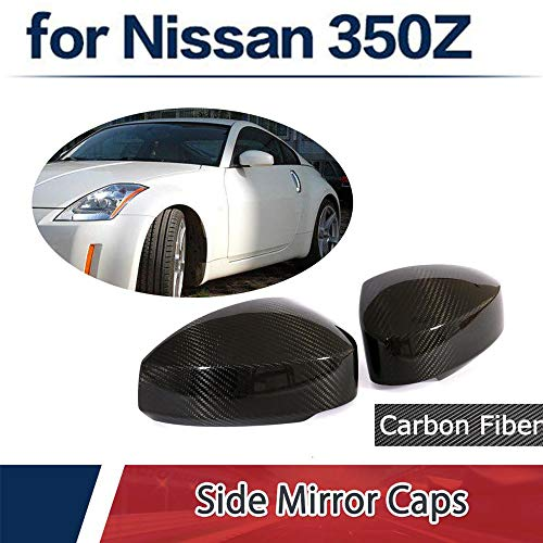 (Jcsportline fits for Nissan 350Z Add on Carbon Fiber Mirror Covers Caps 2-Door 2003-2009)
