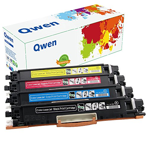 Qwen Compatible Toner Cartridge Replacement for 126A CE310A CE311A CE312A CE313A for Color LaserJet CP1020 CP1025 CP1025nw M175 M275 (Black,Cyan,Magenta,Yellow, 4 Pack (126a Laser Toner Cartridge)