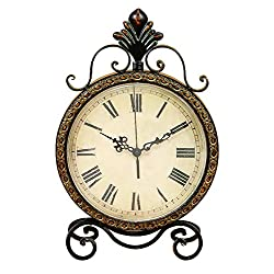 Deco 79 Metal Clock, 17 by 11-Inch