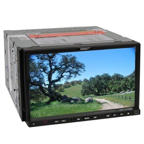Sumas Media SM-747DBT In-Dash CD/DVD Player/MP3/USB/Bluetooth/Radio Car Stereo w/7'' TFT LCD Monitor (Black)