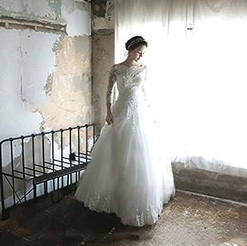 LUCKY-U Vestido de novia Formal Largo Maxi Fiesta Nocturna Vestido de la dama de