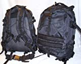 Military Patrol Tactical Assault MOLLE Backpack Black, Outdoor Stuffs