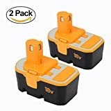 18V Replace Battery for Ryobi 3.0Ah Ni-Mh ONE+ P100 P101Cordless Power Tools -2Packs