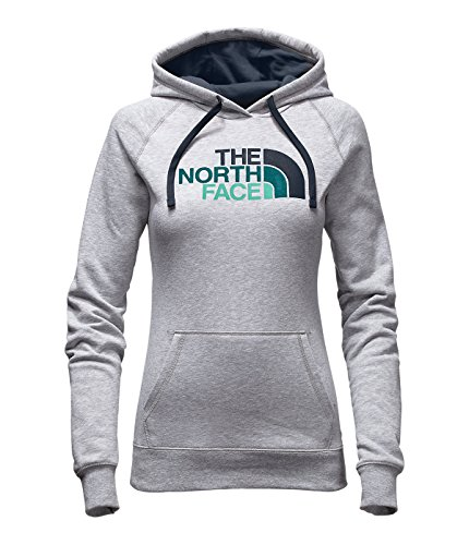 The North Face Women's Half Dome Hoodie TNF Light Grey Heather/Ink Blue Multi (Prior Season) Large (Multi Ink Blue)