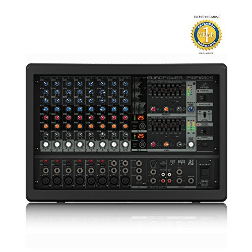 (Behringer EUROPOWER PMP1680S 1600-Watt 10-Channel Powered Mixer with 1 Year EverythingMusic Extended Warranty Free)