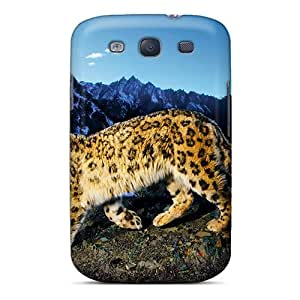 Snap-on Case Designed For Galaxy S3- Big Cat