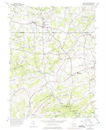 YellowMaps Fawn Grove PA topo map, 1:24000 Scale, 7.5 X 7.5 Minute, Historical, 1956, Updated 1975, 26.8 x 22 in - Paper (Grove Forest Pa)