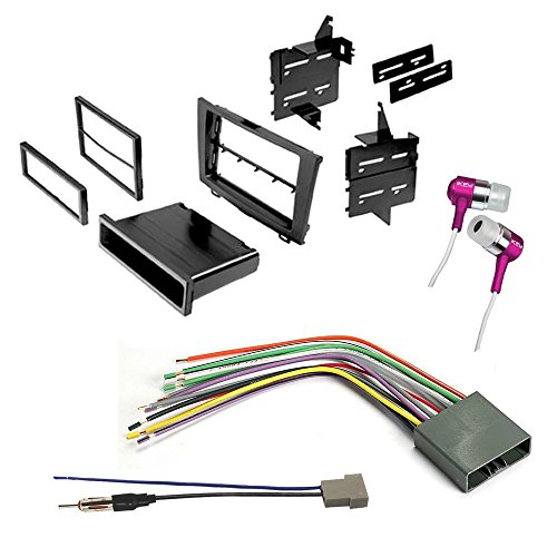 CAR CD Stereo Receiver Dash Install MOUNTING KIT + Wire Harness + Radio Antenna Adapter for Honda 2007-2011 CR-V (Mounting Kits Car Kit)