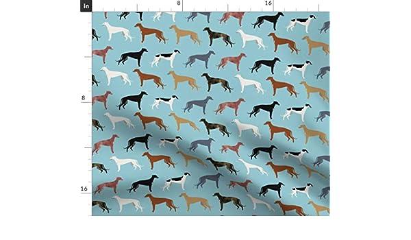 Los galgos los Galgos tela tela de abrigos de colores Tela, diseño de galgo de perro raza de perros por PetFriendly estampado de tela en por el patio por ...