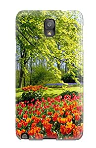 Durable Tulip Flower Back Case/cover For Galaxy Note 3