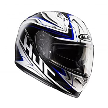 HJC 127902 X S Casco Moto, Color blanco/azul, XS