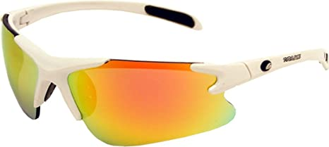 1d3c1a76721 Image Unavailable. Image not available for. Color  Rawlings Kids  103  Baseball Sunglasses (White Orange ...