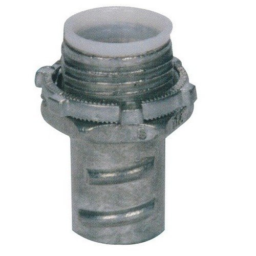 Morris Products 15080 Screw-in Connector, Insulated Throat, for Greenfield/Flex Conduit, Zinc Die Cast, 1