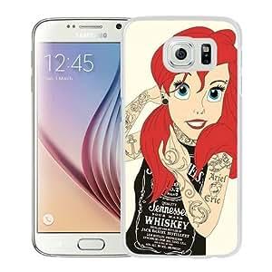 Popular Samsung Galaxy S6 Cover Case ,Tattoo Ariel Little Mermaid White Samsung Galaxy S6 Case Hot Sale And Unique Designed Phone Case