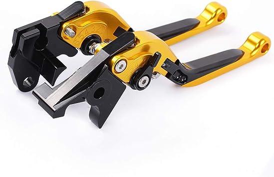 Lzcx Kupplungshebel 1 Paar Einstellklapp Cnc Kupplungshebel Für Kurze Bremsen Kompatibel Für Suzuki Dl650 V Strom Dl650w Strom Gsr600 Gold Küche Haushalt