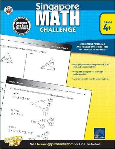 Singapore Math Challenge, Grades 4 - 6: Frank Schaffer ...