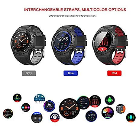 Amazon.com: M1 Smart Sports Watch, IP67 Waterproof Support Micro SIM Card Bluetooth Dialing Call Heart Rate Detection GPS-Android and iOS: Sports & Outdoors