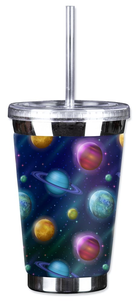 Mugzie 16 Ounce To Go Tumbler with Insulated Wetsuit Cover - Solar System