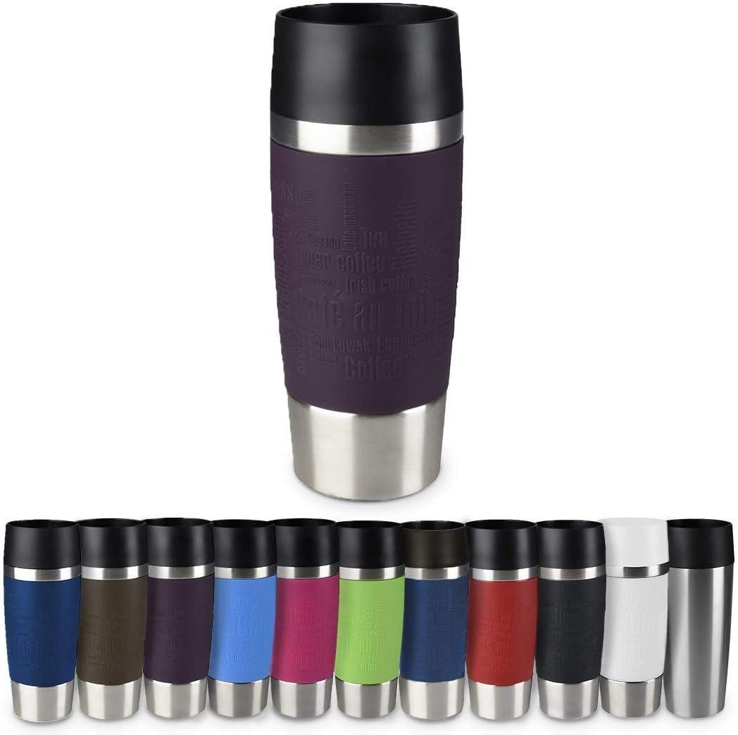 EMSA Travel Mug EASY TWIST Isolierbecher Thermobecher 2x 360ml Koralle//Petrol