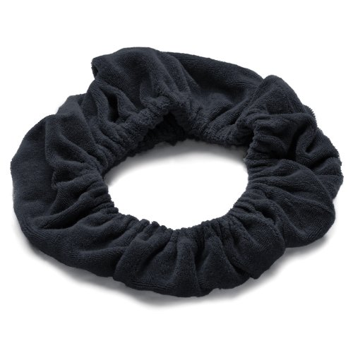 TASSI (Black) Hair Holder Head Wrap Stretch Terry Cloth, The Best Way To Hold Your Hair ()