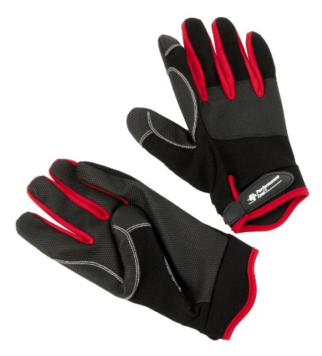 Performance Tool W89007 Red Mechanic's Work Gloves-  X-Large -