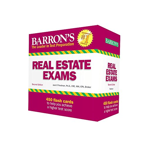 Barron's Real Estate Exam Flash Cards (California Real Estate Broker Exam Study Guide)