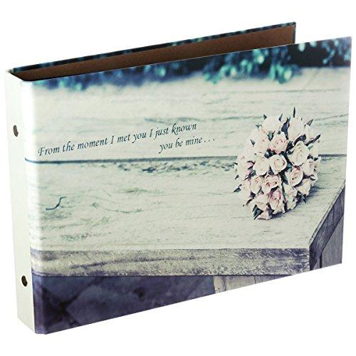 Polaroid Photo Book Guest - Nodartisan Instax Mini Book Album, 50 Pages DIY Photo Album, Anniversary Scrapbook, Wedding Photo Album (Flowers)