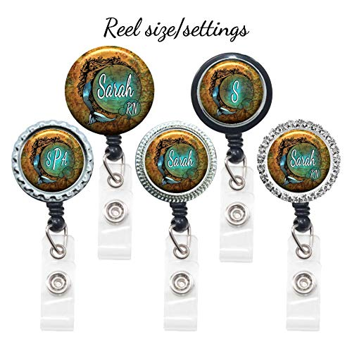 Amazon Com Old World Map Badge Reel Retractable Lanyard Id Holder Personalized With Name Monogram Occupation Title Mermaid Theme Nurse Gift Handmade