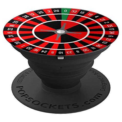 Roulette Wheel Black Red Green Casino Spin Ball Novelty Gift - PopSockets Grip and Stand for Phones and -