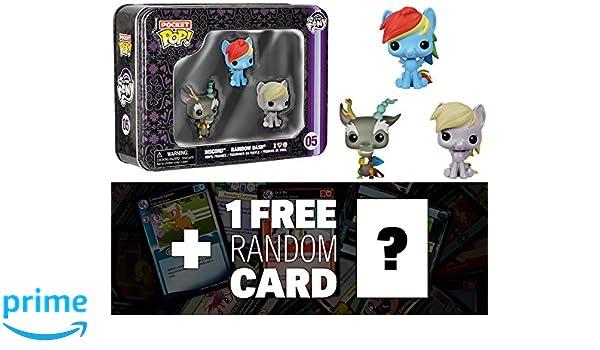 Amazon com: My Little Pony Discord, Rainbow Dash, Derpy Tin Boxset