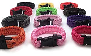 Personal Protection Attack or Rape Whistle. 550 Paracord Bracelet TSA, Air Travel Friendly, Med Alert, Be Safe! Wristband Covers Self Defense Emergency Preparedness Survival Gear Alarm Running Shoes Shoelaces Towing Safety Outdoor Camping Ties (Army Green)