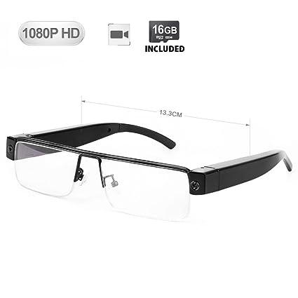 891a7ac896af3 Amazon.com   WISEUP 16GB 1920x1080P Wearable Hidden Camera Glasses Mini DV  Camcorder Video Recorder (2018 Version)   Electronics