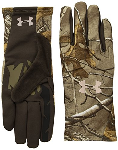 Under Armour Women's Scent Control Liner Gloves, Realtree Ap-Xtra (946)/Metallic Beige, - Hunting Gloves Armour Under
