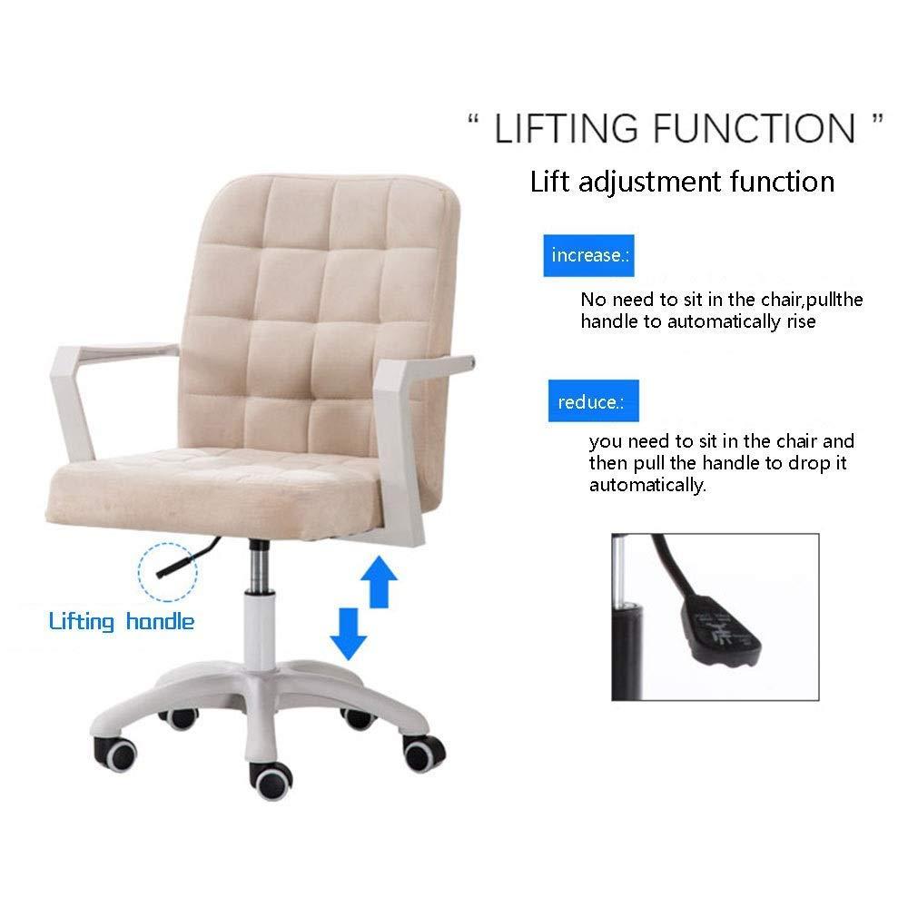 Dalovy bekväm datorstol ergonomi lyft rotation flanell säte verkställande stol låg rygg kontorsstol höjd justerbar hushåll dator stol för studenter lägenhet kontor Svart