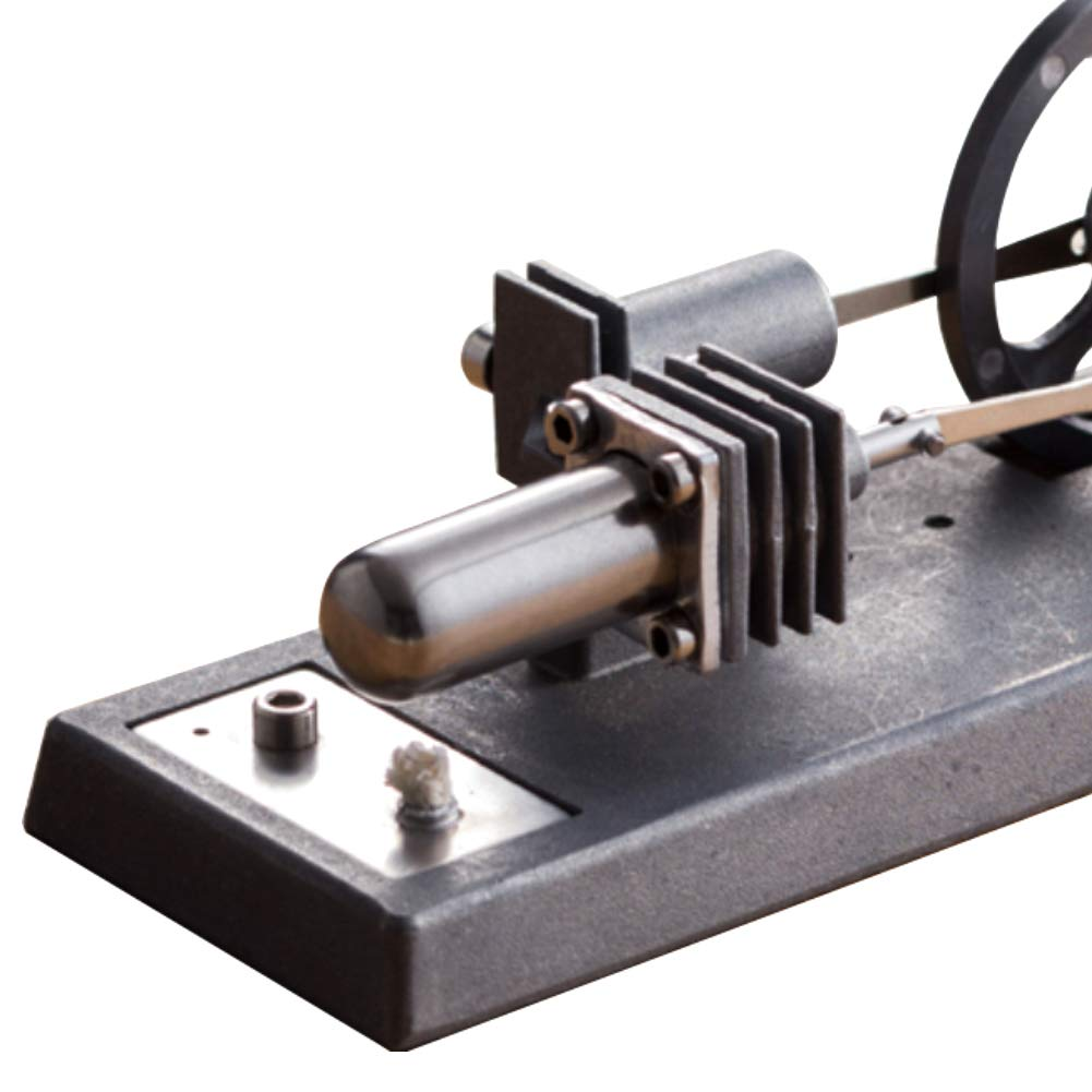At27clekca QX6 DIY Assembly Low Temperature Stirling Engine Hot Power Generator Steam Heat Education Motor Physical Model Toy Kit by At27clekca (Image #6)