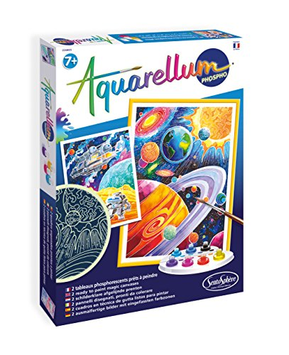 Sento Sphere Aquarellum: Magic Canvas Paint Number, Glow in Dark Cosmos by Sento Sphere