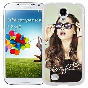 Attractive Galaxy S4 Case Design with Ariana Grande Samsung Galaxy S4 SIV S IV I9500 I9505 White Case