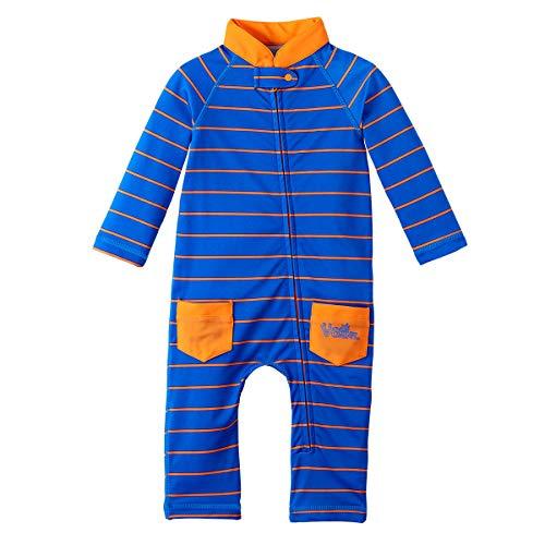 UV Skinz UPF 50+ Baby Boys Sun & Swim Suit - Royal Fun Stripe -3/6 month]()