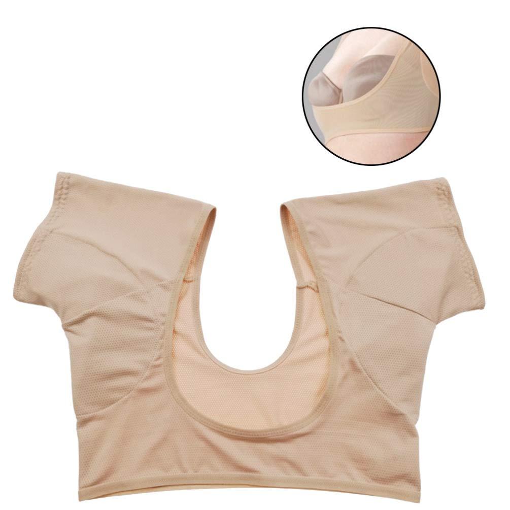 Size L Healifty Underarm Sweat Pad Armpit Vest Sweat Guard Underwear Elastic Comfortable for Sprots Runnig