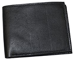 Ted and Jack - Classic Quality Leather Bifold Wallet in Rich Black