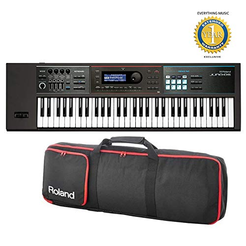 Roland JUNO-DS61 61-key Synthesizer with Gigbag RAM-4879 Bundle with 1 Year Everything Music Extended Warranty
